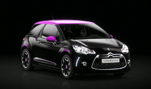 p edstaven citro n ds3 dark rose edition automobil od alfreda hitchcocka trendy cars. Black Bedroom Furniture Sets. Home Design Ideas