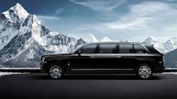 Obrněná limuzína v podání značky Rolls-Royce. Mohutný Cullinan narostl o další metr